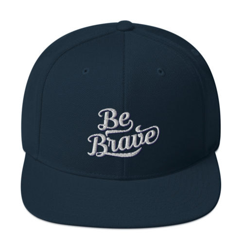 Be Brave Snapback - Navy Womens Hat